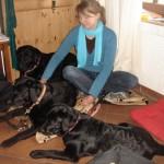 Stephie & my dogs